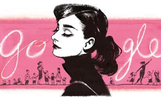 Elegant and charming Audrey Hepburn