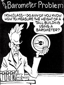 The barometer comnundrum!