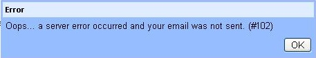 Gmail Error message