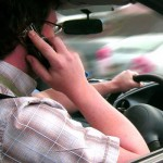 Talking in mobile phone while driving