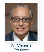 N.Murali, president of Music Academy