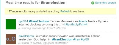 Iran election on Twitter
