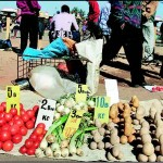 Prices of vegetables quoted in billions of Zimbabwe dollars
